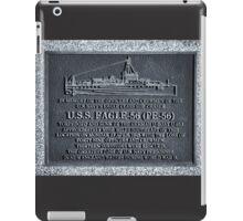 Maine Naval Plaque iPad Case/Skin