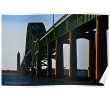 View On Fire Island Inlet Bridge And Robert Moses Water Tower | Gilgo-Oak Beach-Captree, New York Poster