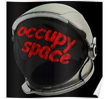 occupy space helmit Poster
