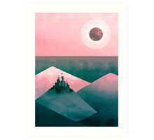 love me gone mountains Art Print