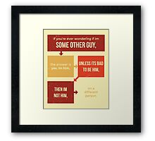 tweets by @dril - Some Other Guy Framed Print