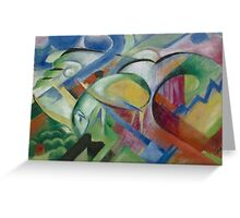 Franz Marc - The Sheep 1913 - 1914 Greeting Card