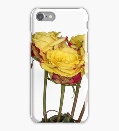 Roses in white iPhone Case/Skin