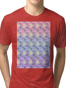 Steel Types - Pokemon - Patterned Pastels Rainbow Tri-blend T-Shirt