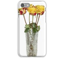 Roses in vase iPhone Case/Skin