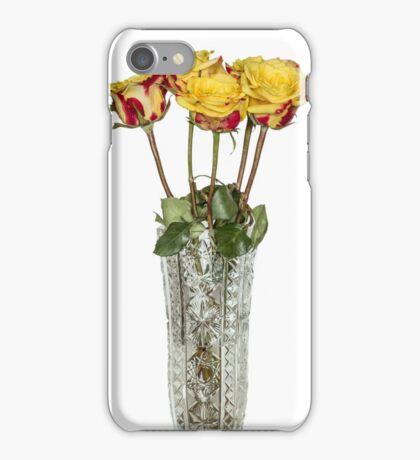 Roses in vase iPhone Case/Skin
