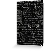 Theory of relativity : spacetime Greeting Card