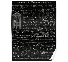 Theory of relativity : spacetime Poster