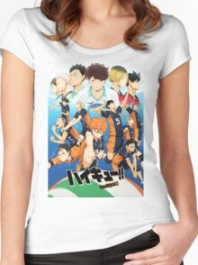 Haikyuu!! - Friends or Foes Women's Fitted Scoop T-Shirt