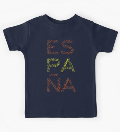 Spain - Collage with All Spanish Provinces Kids Tee