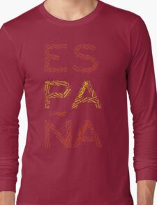 Spain - Collage with All Spanish Provinces Long Sleeve T-Shirt
