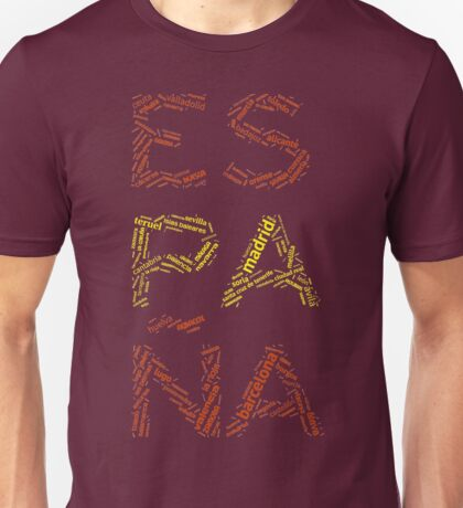 Spain - Collage with All Spanish Provinces Unisex T-Shirt