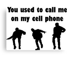 Call me on my cell phone 2 Canvas Print