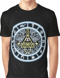 Gravity Falls Bill Cipher Wheel Graphic T-Shirt