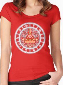 Gravity Falls Bill Cipher Wheel Women's Fitted Scoop T-Shirt