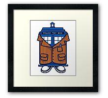 Tennant TARDIS Framed Print