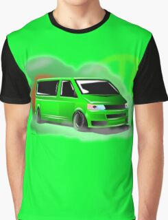 Lime Green VW T5 Stanced Graphic T-Shirt