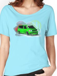 Lime Green VW T5 Stanced Women's Relaxed Fit T-Shirt