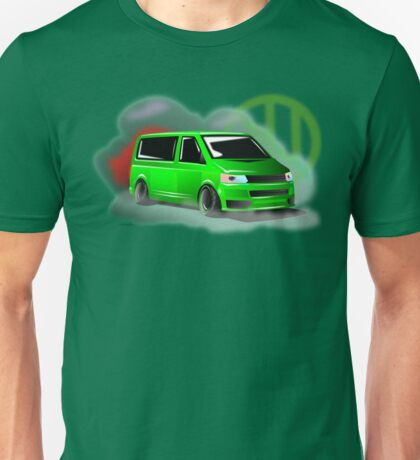 Lime Green VW T5 Stanced Unisex T-Shirt