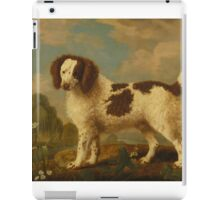 George Stubbs - Brown and White Norfolk or Water Spaniel 1778 iPad Case/Skin