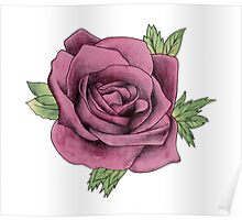 Watercolour Rose Poster