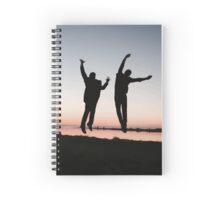 sunset jump Spiral Notebook