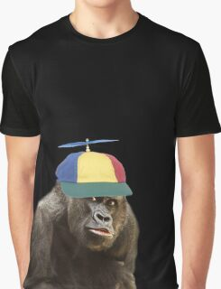 baboon wearing a funny hat  Graphic T-Shirt