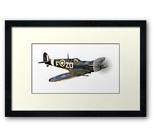 SPITFIRE, British, Airplane, Fighter, WWII, 1942, Spitfire VB of 222 Squadron, cut out Framed Print