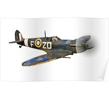 SPITFIRE, British, Airplane, Fighter, WWII, 1942, Spitfire VB of 222 Squadron, cut out Poster