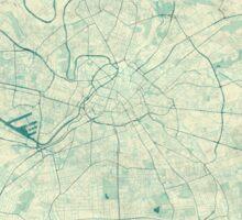 Manchester Map Blue Vintage Sticker