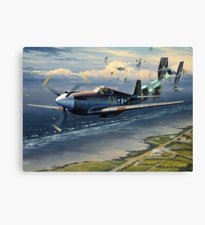 Unfairly Tied Skies Canvas Print