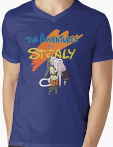 Mr. Stealy! Mens V-Neck T-Shirt