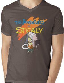 Mr. Stealy! Mens V-Neck T-Shirt