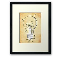 Lightbulb. Framed Print