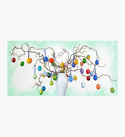 Easter egg tree Photographic Print