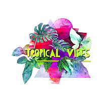 Tropical vibes  slogan.  Modern and stylish typographic design  Photographic Print