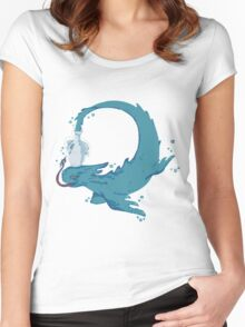fish outta bottle no background Women's Fitted Scoop T-Shirt