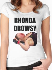 Rhonda Rousey Drowsy Women's Fitted Scoop T-Shirt