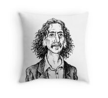 Frank Zappa by Crumb Throw Pillow