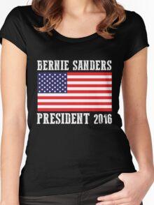 Bernie Sanders President 2016 Women's Fitted Scoop T-Shirt