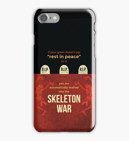 tweets by @dril - Skeleton War iPhone Case/Skin