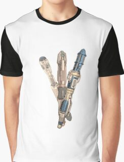 Evolution of the Doctor's Sonic Screwdriver Graphic T-Shirt