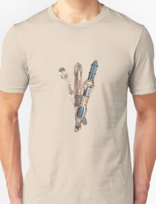 Evolution of the Doctor's Sonic Screwdriver Unisex T-Shirt