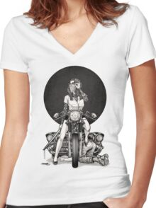 Winya No. 82 Women's Fitted V-Neck T-Shirt