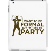 formal party iPad Case/Skin