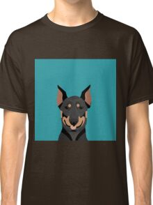 Doberman Pinscher cute pet portrait customizable dog gift for doberman owner pet portrait Classic T-Shirt