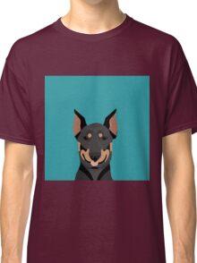 Doberman Pinscher cute pet portrait customizable dog gift for doberman owner pet portrait Classic T-Shirt