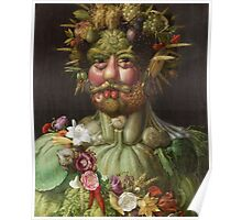 Giuseppe Arcimboldo - Rudolf II of Habsburg as Vertumnus 1590 , Fashion Portrait, Italian Handsome Man. Poster