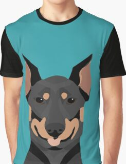 Doberman Pinscher cute pet portrait customizable dog gift for doberman owner pet portrait Graphic T-Shirt