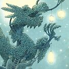 The Night Gardener - Dragon Tree, Night by Eric Fan